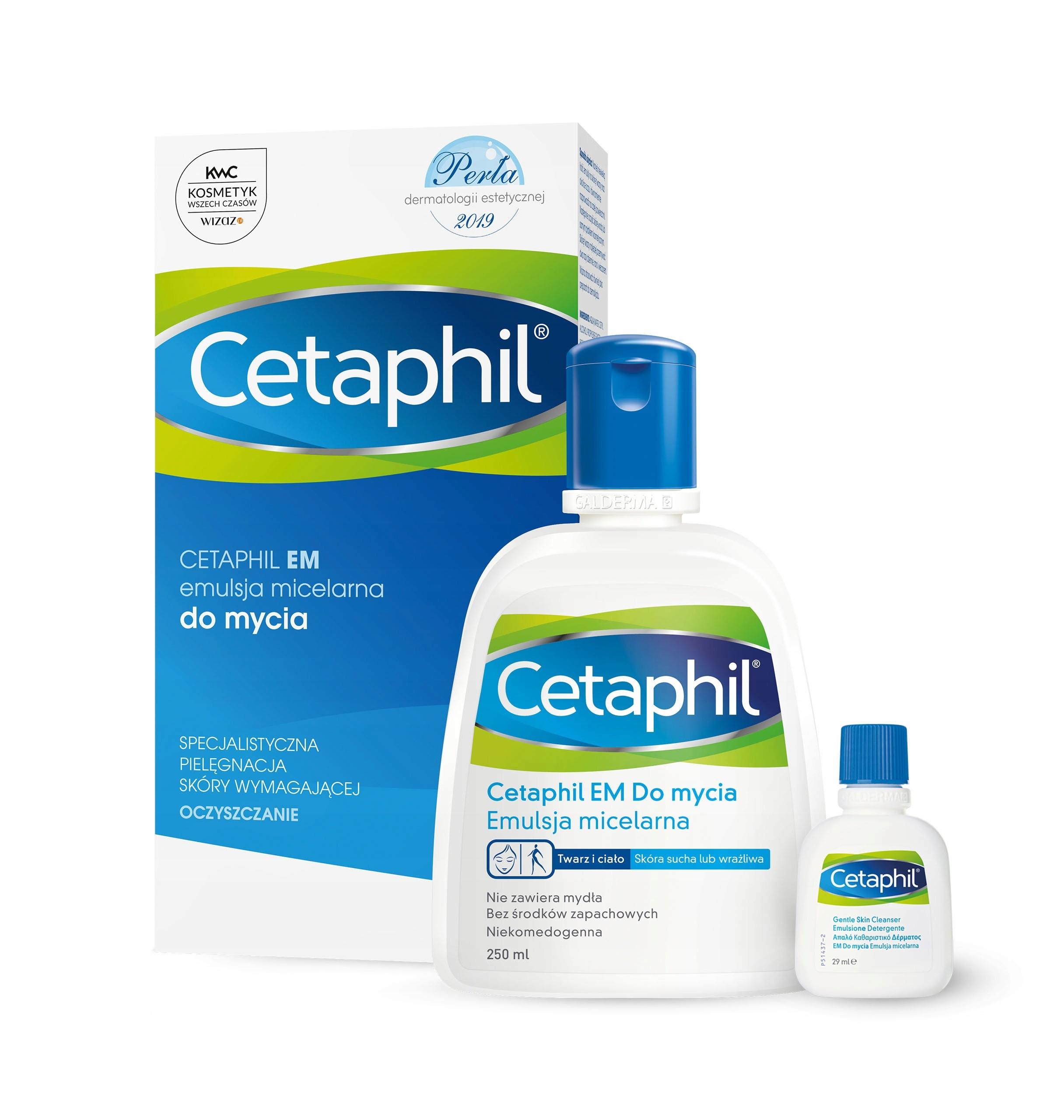 Cetaphil Em Emulsja 250 ml i mini produkt Em 29 ml