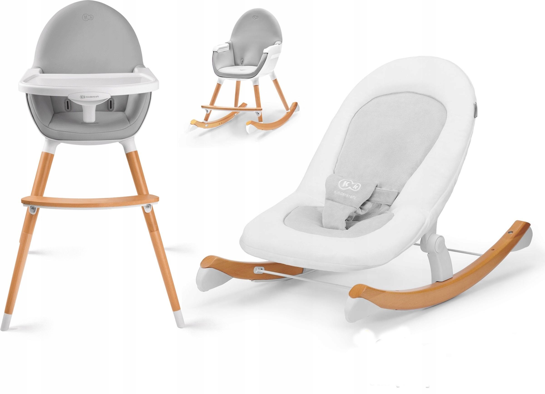 KinderKraft bujaczek Finio + krzesełko Fini White