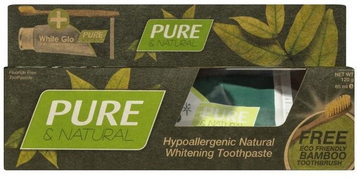 WHITE GLO WHITE GLO Pasta do zębów Pure&Natural 98% 150g 45118-uniw