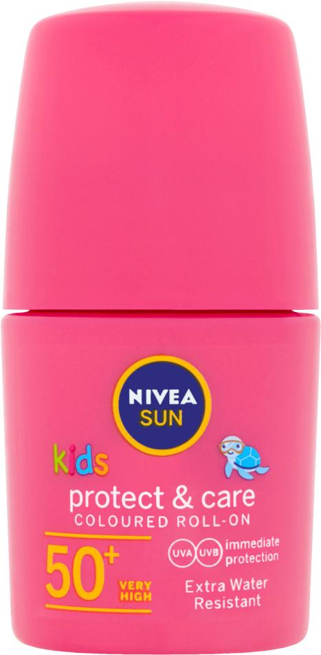 Nivea Sun Protect & Play Kolorowe mleczko do opalania dla dzieci w kuleczce OF 50+ 50 ml