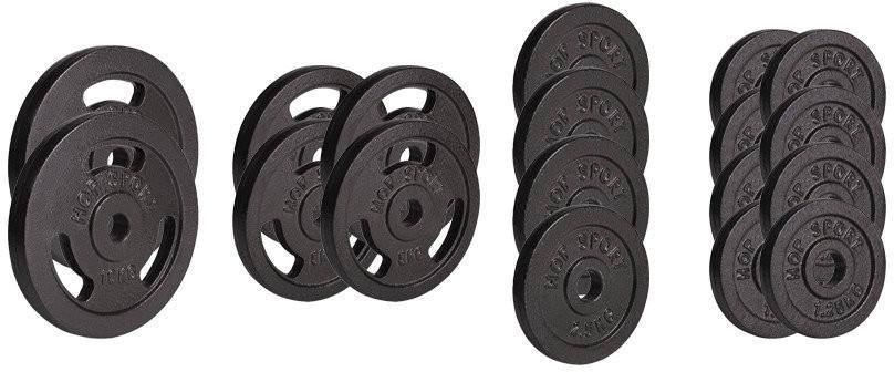 Hop-Sport Zestaw obciążeń żeliwnych, 60 kg (2x10 4x5 4x2,5 8x1,25)
