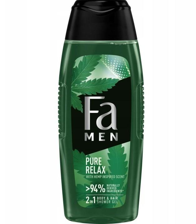 Fa Men 2in1 Shower Gel Pure Hemp 400ml żel pod prysznic do ciała i włosów