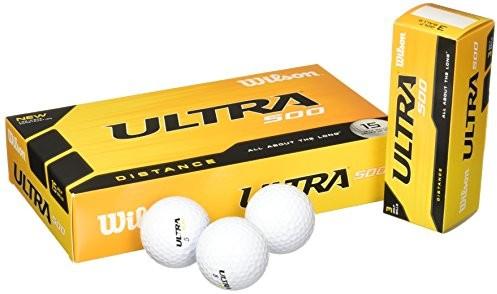 Wilson Ultra 500 Distance piłkę do golfa (15-Pack), white Ultra