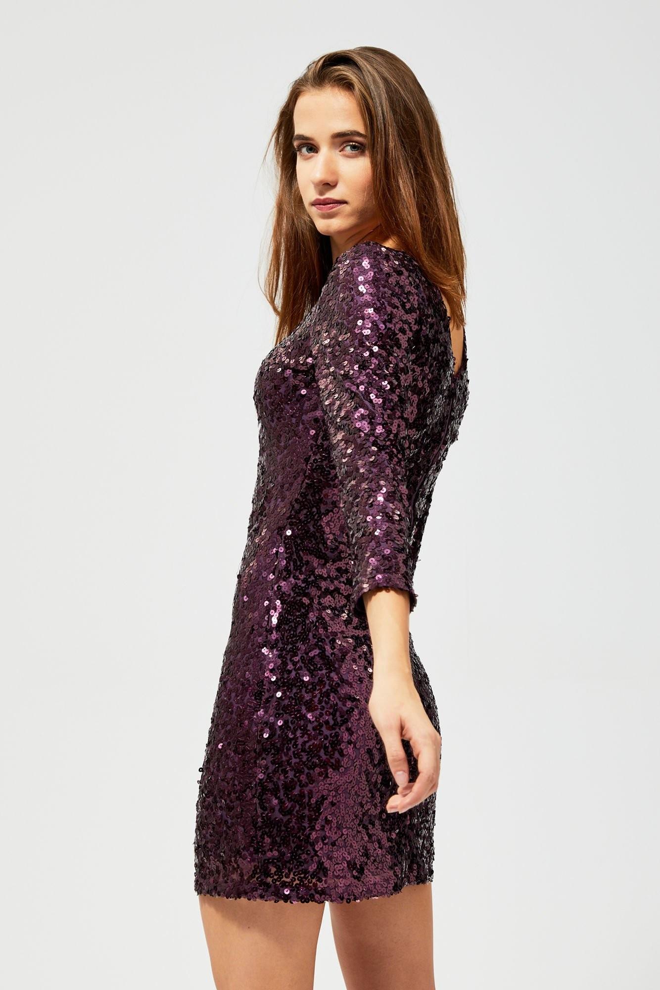 MOODO Sukienka cekinowa