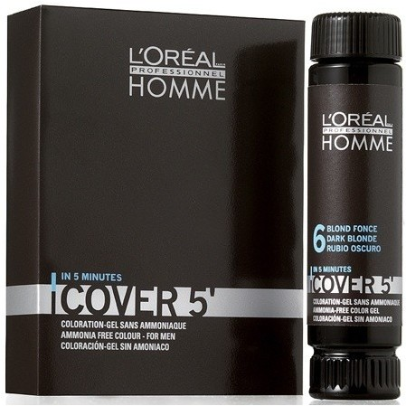 Loreal PROFESSIONNEL Professionnel Homme Cover 5 3X50ML Odcień NR 6 - CIEMNY BLOND
