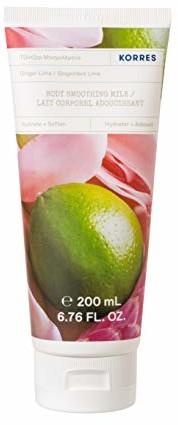 Korres GINGER LIME wygładzające mleczko do ciała, 200 ml