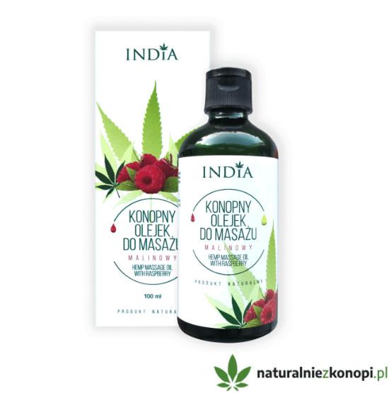 Konopno- malinowy olejek do masażu