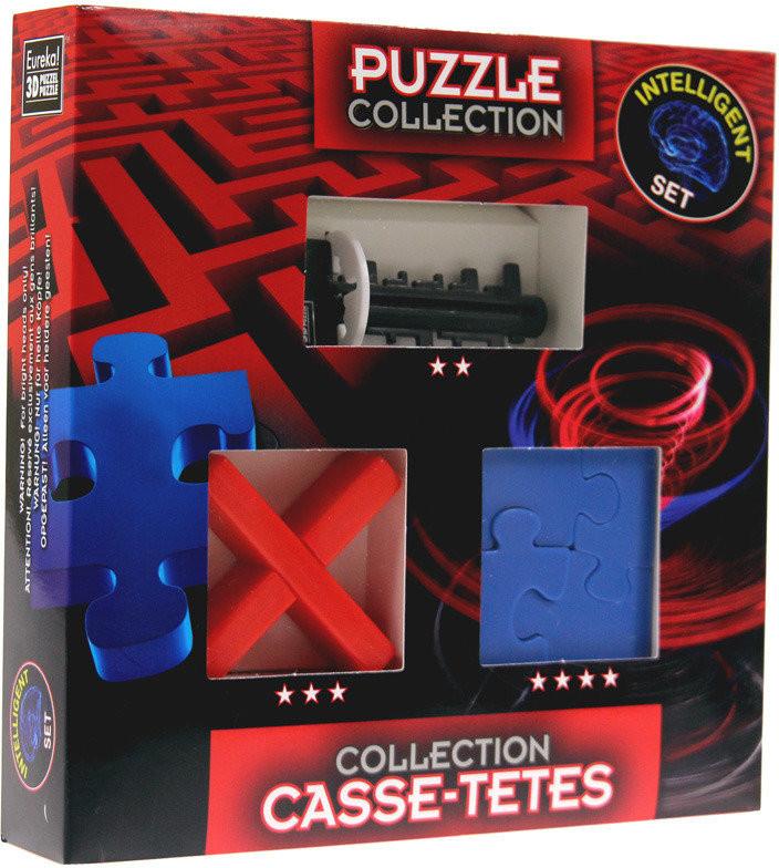 Eureka 3D 3D, łamigłówka Intelligent: Key Maze / Square Jigsaw / Cross Puzzle