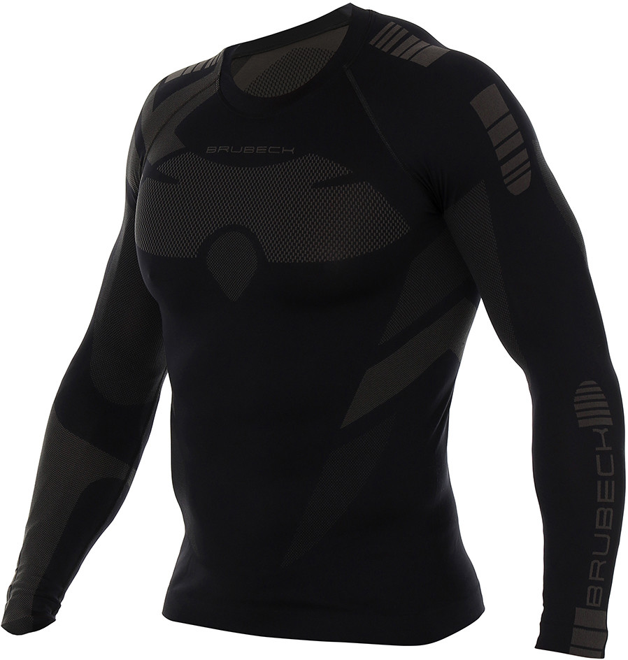 top Brubeck Koszulka DRY MEN LS13080 graphite/black