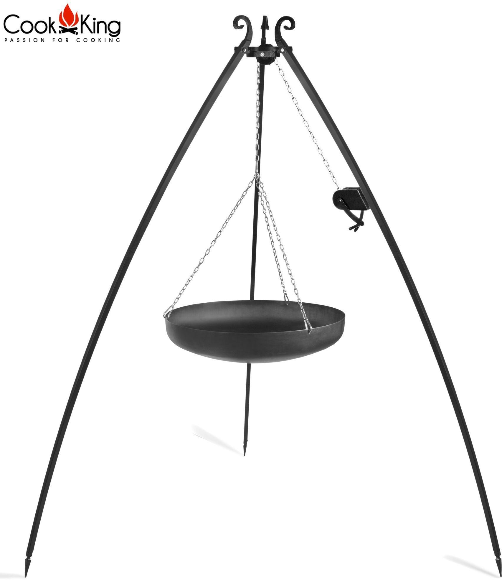 Cook King Wok na trójnogu 60cm z kołowrotkiem