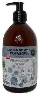 Mydlarnia Powrót do Natury Naturalne mydło potasowe Prawdziwe Szare ze srebrem monojonowym w płynie 500 ml PDN12