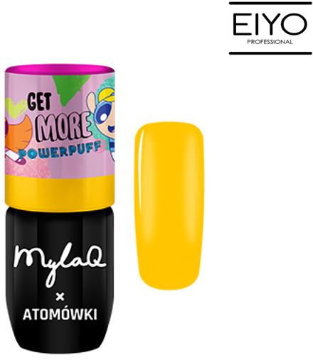 MyLaq Lakier Hybrydowy Yellow Power MylaQ x Atomówki - 5 ml M097