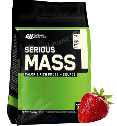 Optimum Nutrition ON Serious Mass 5450g Strawberry 6557