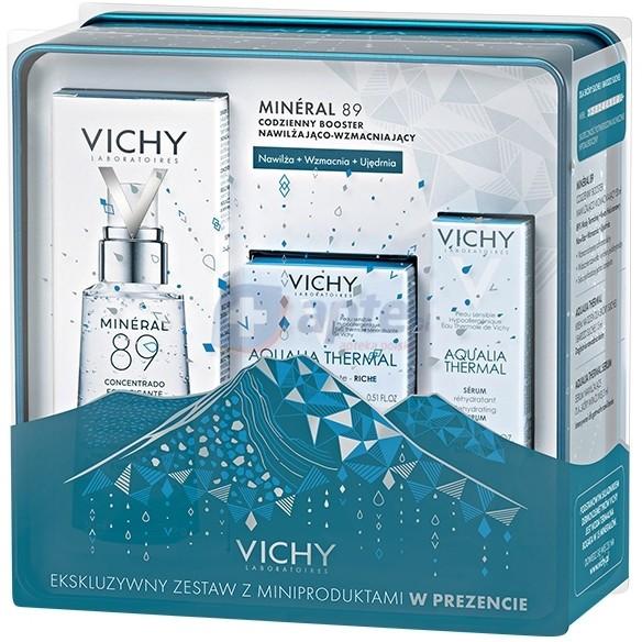 Vichy Mineral 89 codzienny booster nawilżająco-wzmacniający 50ml ZESTAW AQUALIA W PUSZCE Mineral 89 codzienny booster nawilżająco-wzmacniający 50ml ZESTAW AQUALIA W PUSZCE
