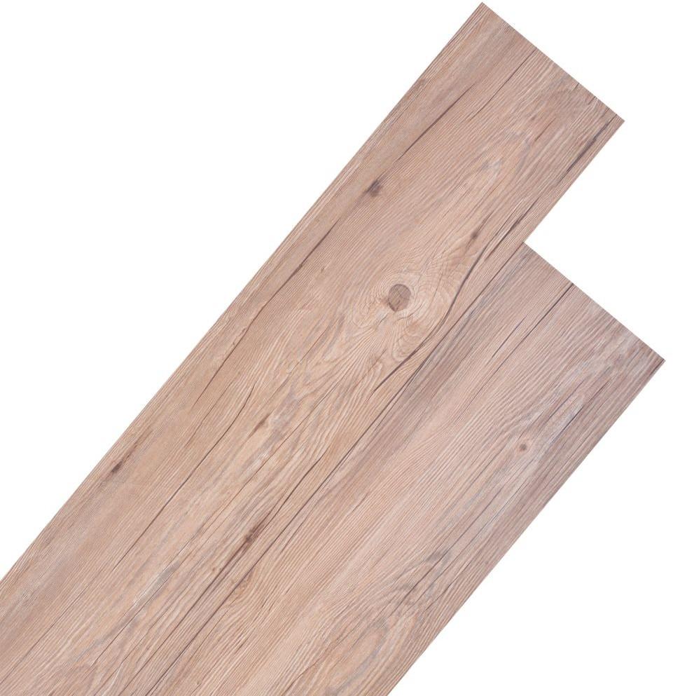vidaXL Zestaw paneli podłogowych, 18 części, PVC, 5,26 m, matowy brąz vidaXL