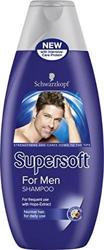 Schwarzkopf Super Soft for Men Shampoo 400ML Pack of 5by Schwarzkopf 05012583503811