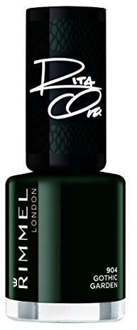 Rimmel London Super, lakier do paznokci, ciemnoszare połysk, 8ML ciemnozielony 34774403904