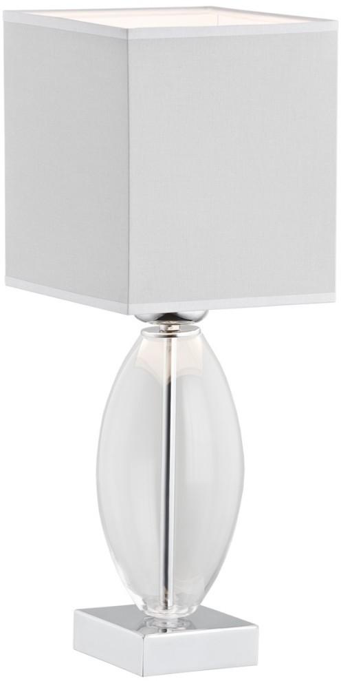 Argon PRZEDSPRZEDAŻ Lampka biurkowa Nicea 1x60W E27 przezroczysta/Szary 3364 ARG