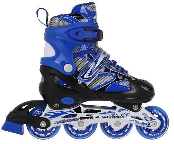 Nils Extreme Łyżworolki 2w1 NH18366 A Extreme niebieskie 16-21-021