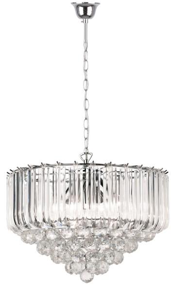 Reality żyrandol glamour nad stół UTAH 325005-06 lampa wisząca z kryształkami transparentna zwis do jadalni 325005-06