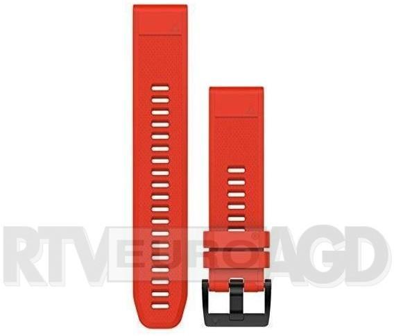 Garmin Pasek silikonowy Quick Fit 22mm Fenix 5 czerwony   (010-12496-03)
