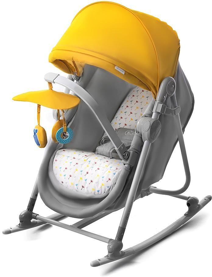 KinderKraft Leżaczek Unimo 5 funkcji Żółty
