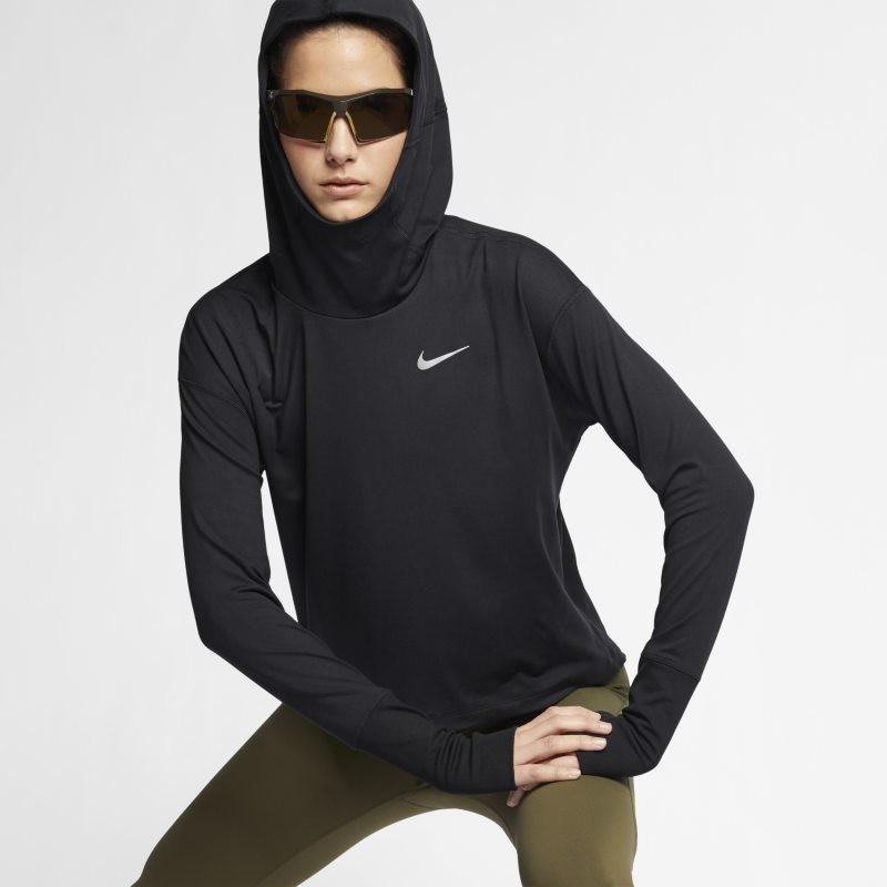 50d78c67c97583 Nike Damska bluza z kapturem do biegania Element - Czerń AJ8725-010