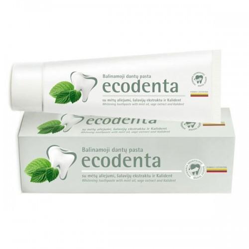 Ecodenta ECODENTA - PASTA DO ZĘBÓW WYBIELAJĄCA z olejkiem miętowym, esktraktem szałwiowym i bioaktywnym wapniem, 100 ml