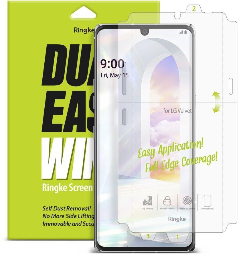Ringke Dual Easy Wing 2x łatwa w przyklejeniu folia na ekran i boki LG Velvet (DWLG0001) DWLG0001
