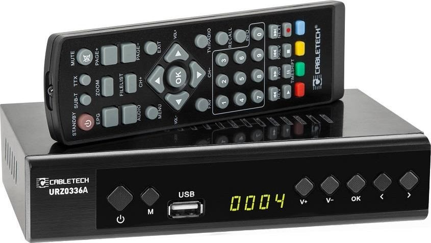 Cabletech Tuner cyfrowy DVB-T2 H.265 HEVC URZ0336A
