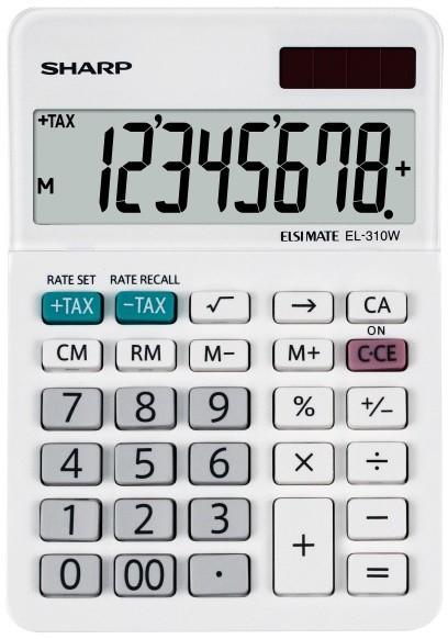 Sharp Kalkulator Desktop Box SH-EL310W Biały