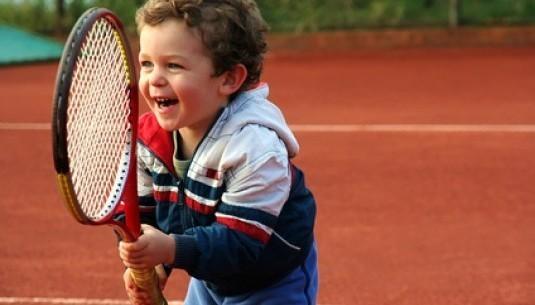 Lekcja gry w tenisa dla dzieci Katowice kort kryty TAAK_LTDD4