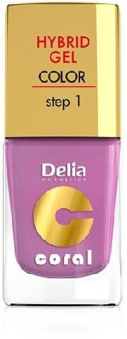 Delia Cosmetics Cosmetics, Coral Hybrid Gel, lakier do paznokci nr 05 róż pudrowy, 11 ml