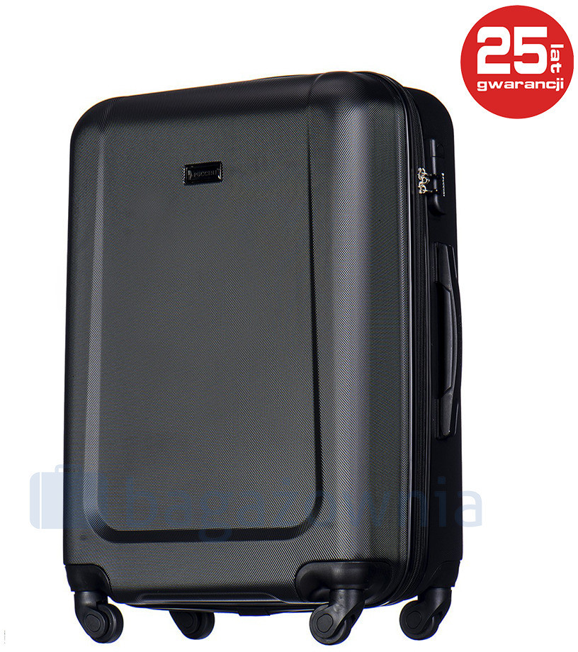 65bef8d0ffde5 Puccini Średnia walizka IBIZA ABS04B 1 Czarna - czarny ABS04B 1