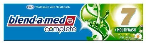 PROCTER & GAMBLE Pasta do zębów Blend-A-Med Complete 7 plus Mouthwash Herbal 100 ml