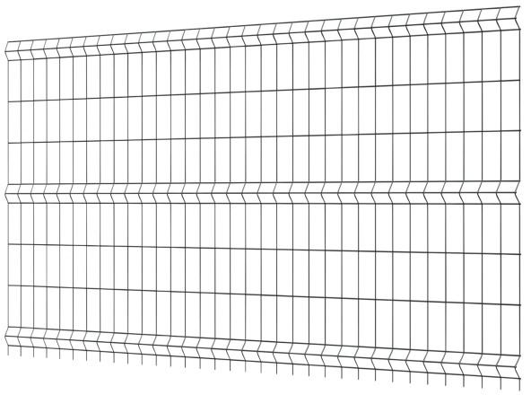 Polargos Panel ogrodzeniowy 1 53 x 2 5 m oczko 7 5 x 20 cm ocynk antracyt S3008
