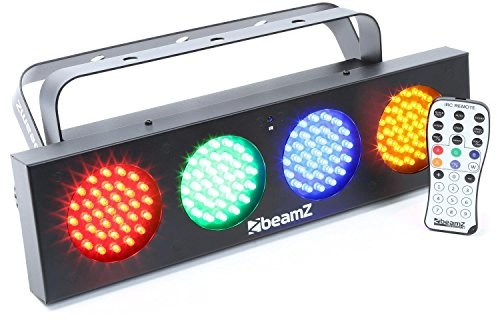 EPISTAR Ławka beamz DJ listwa świetlna LED z regulowaną prędkością/czułość łącznie z pilotem zdalnego sterowania diodami LED światło Disko (rgba barw, Wash, efekt efektem) Czarny 153.722
