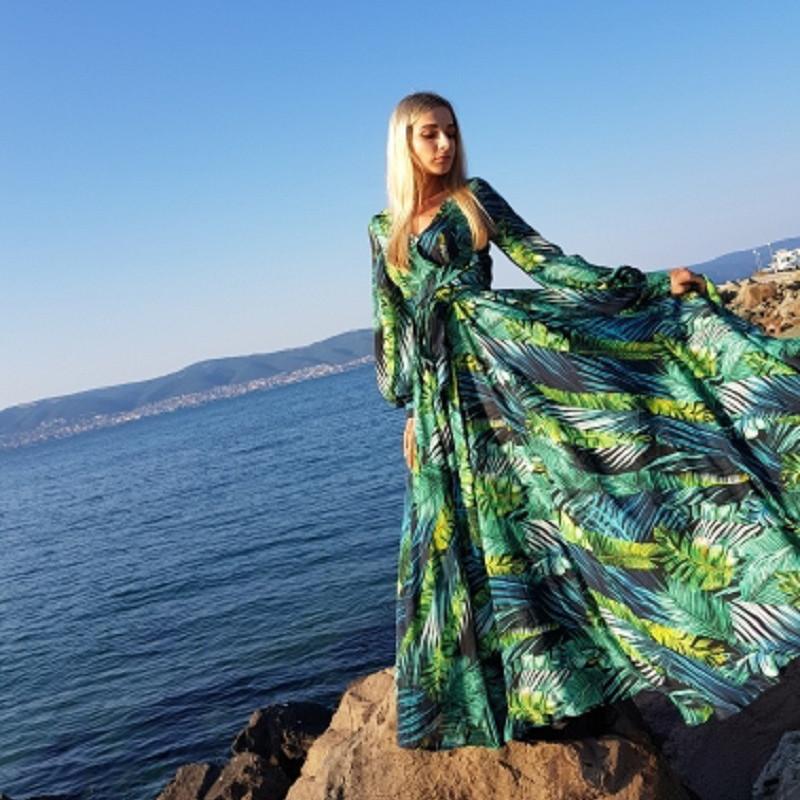 Sexy Lady AECU Vestido kwiatowy Print Boho Maxi sukienka czeski lato długa sukienka kobiety sukienki