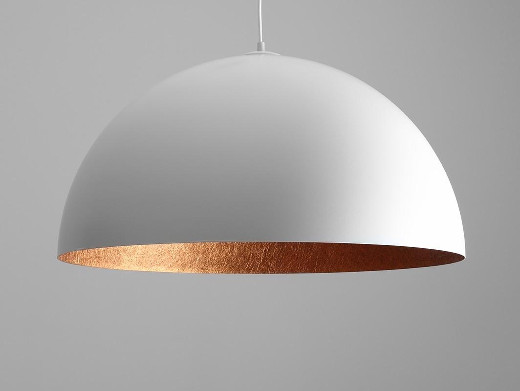 Customform Lampa wisząca LORD 70 - miedziano-biały LP001LOR-70-6901