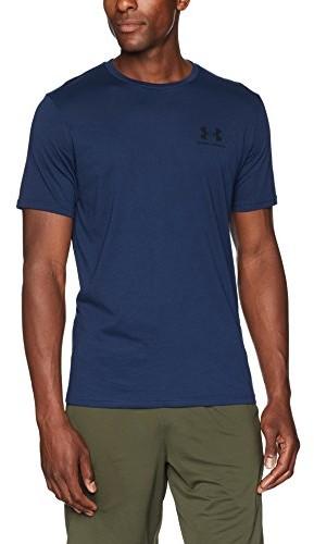 Under Armour koszulka męska Sport Style Left Chest SS koszulka z krótkim rękawem, niebieski, small