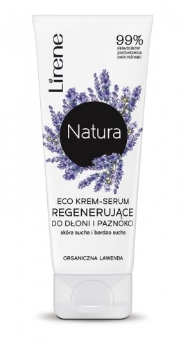 Lirene Lirene Natura Eco krem-serum regenerujący do rąk i paznokci Organiczna Lawenda 75ml LIR NAT-010