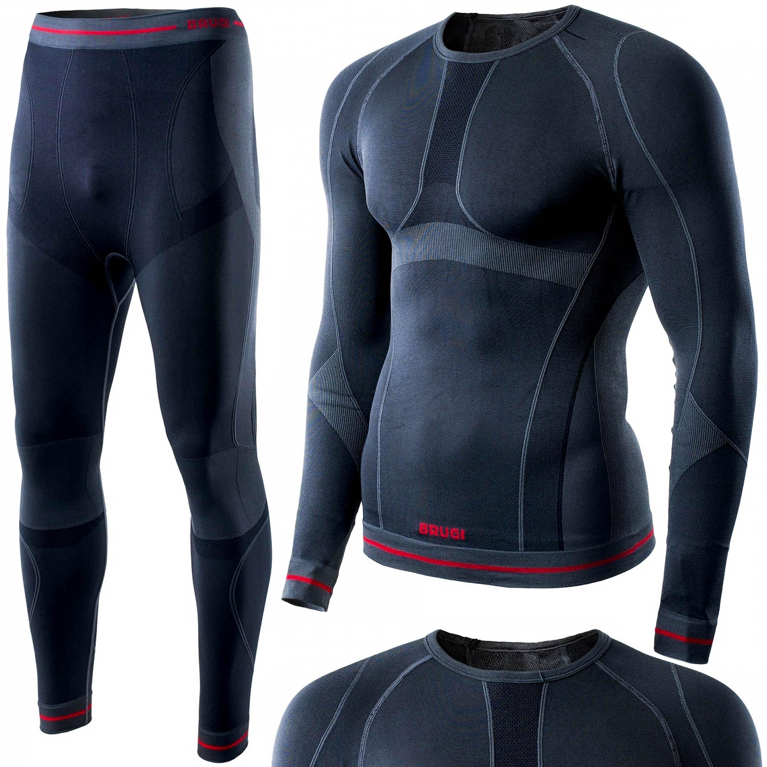 Brugi Bielizna termoaktywna męska 4RAW+4RAT L/XL czarna X15 (spodnie+koszulka) -OS-01_0092