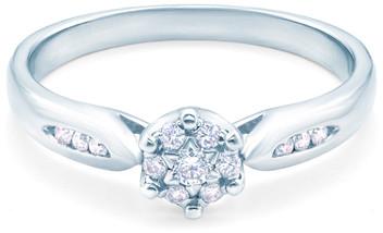 Savicki Pierścionek zaręczynowy białe złoto, diament 6571
