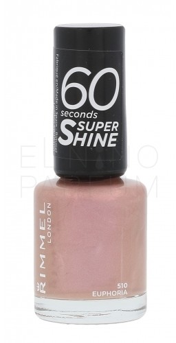 Rimmel London London 60 Seconds Super Shine lakier do paznokci 8 ml dla kobiet 510 Euphoria