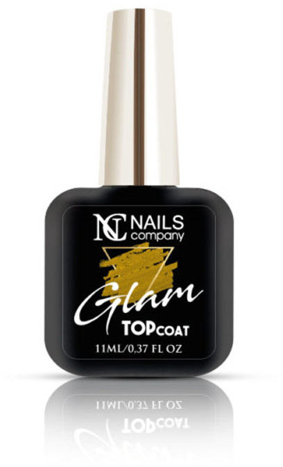 NAILS COMPANY GLAM TOP COAT GOLD Nails Company 11 ml -  bez przemywania