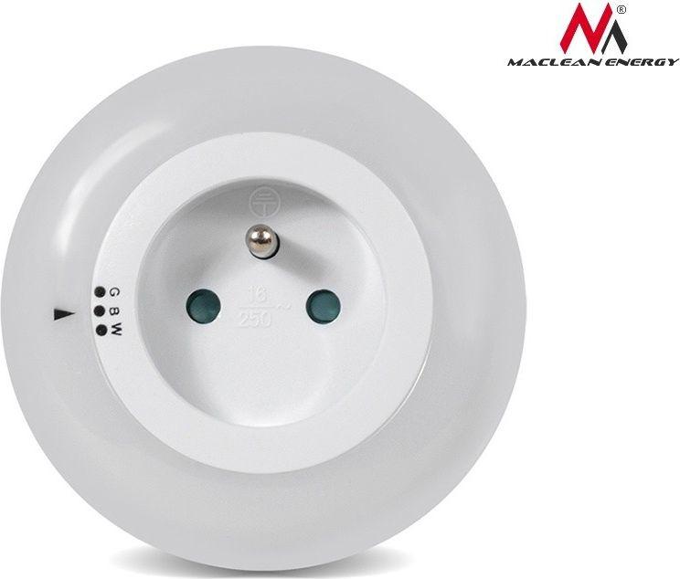 Maclean Lampka Lampka nocna z czujnikiem zmierzchu 3LED z gniazdem 230V MCE122 3 kolory MCE122 MCE122