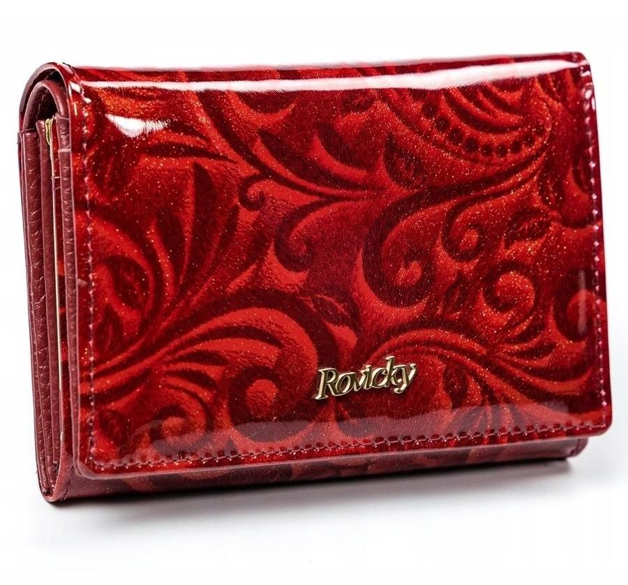 Rovicky Zachwycający portfel damski skórzany HQ RFID