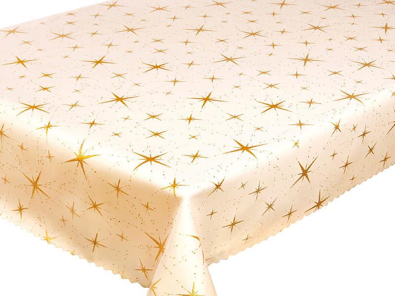 Euromat Dwustronny Obrus Plamoodporny 2562 Gwiazdy Złoty Z-2562 GOLD