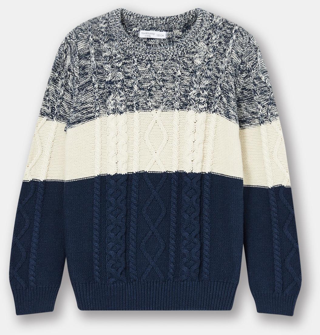 Sinsay Sinsay - Sweter chłopięcy z warkoczykowym wzorem -