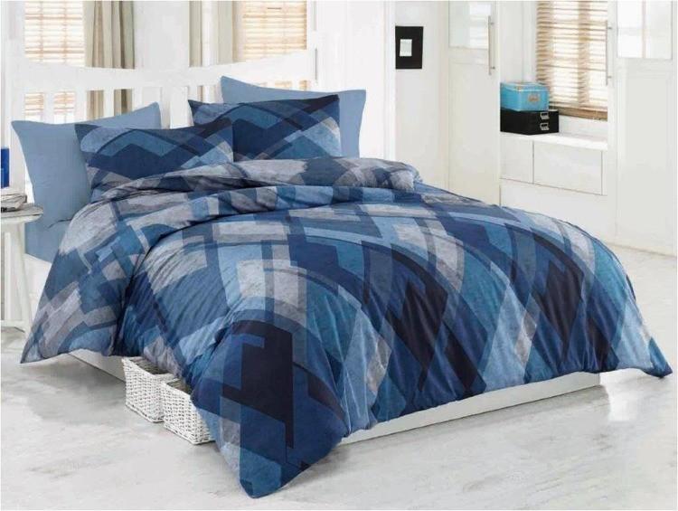 Darymex Komplet pościeli z bawełny 200x220 (MOSAIC BLUE/200x220 EXCLUSIVE premium)
